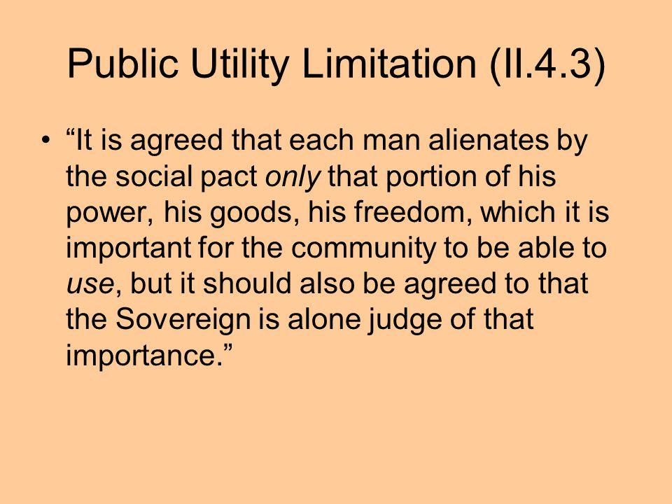 Public Utility Limitation (II.4.3)
