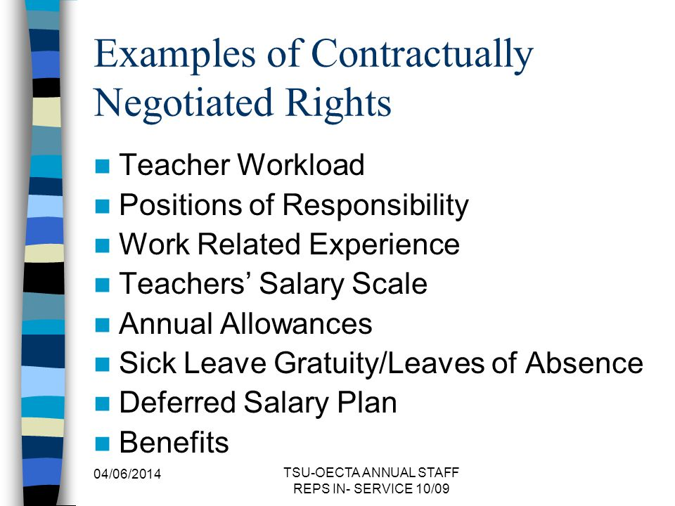 Examples of Contractually Negotiated Rights
