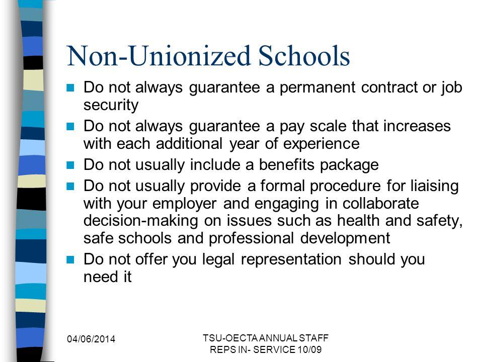 Non-Unionized Schools