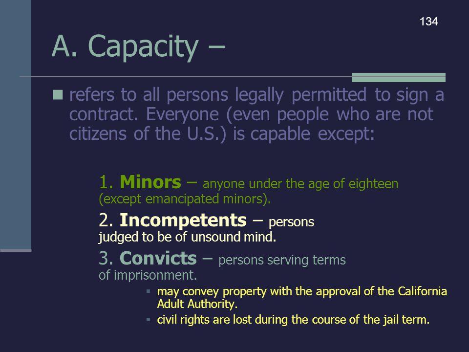 A. Capacity – 134.