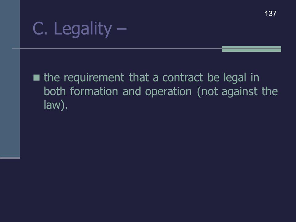 C. Legality – 137.
