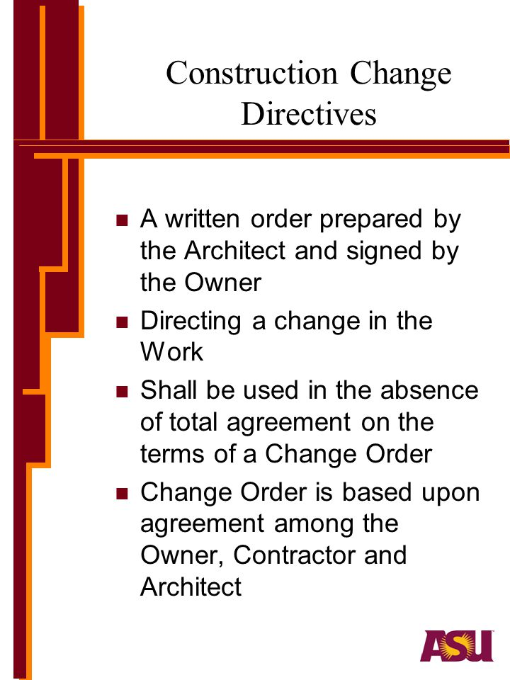 Construction Change Directives