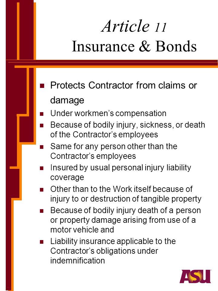 Article 11 Insurance & Bonds