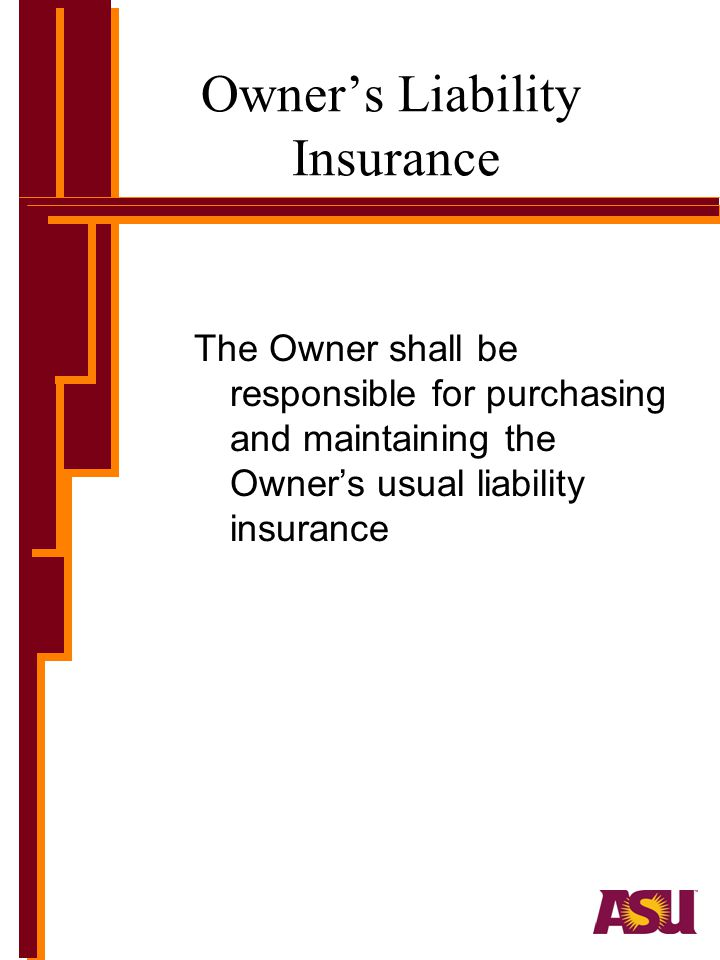 Owner's Liability Insurance