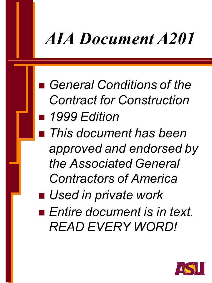 AIA Document A201 General Conditions of the Contract for Construction