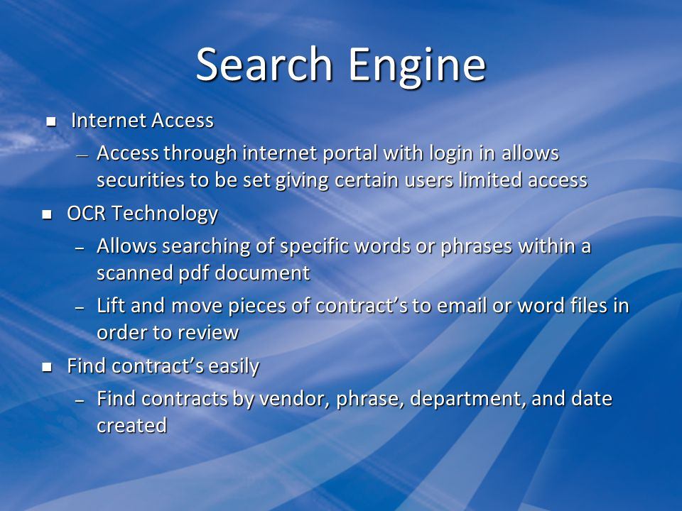 Search Engine Internet Access