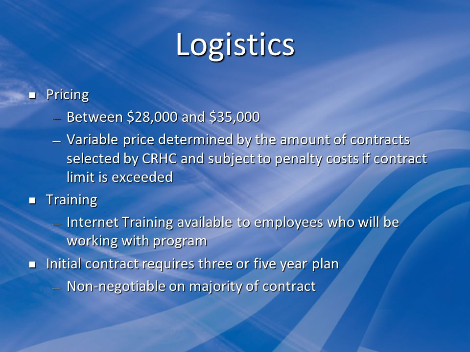 Logistics Pricing Between $28,000 and $35,000