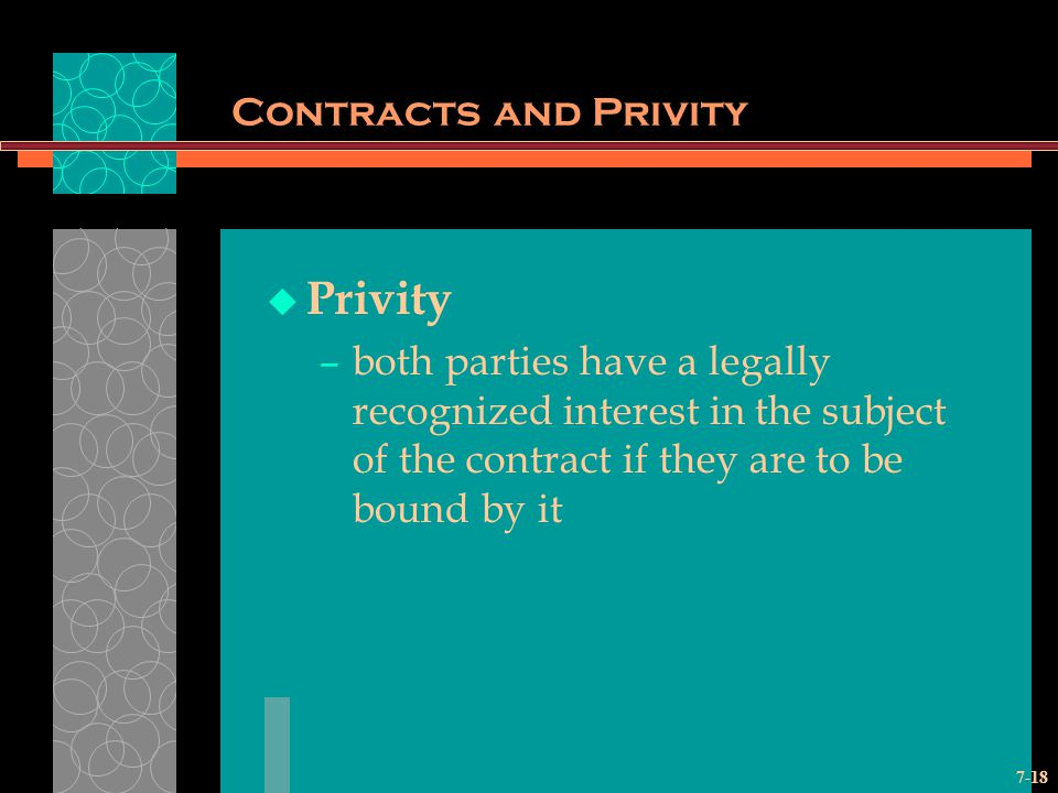 Privity Contracts and Privity