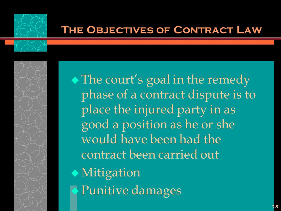 The Objectives of Contract Law