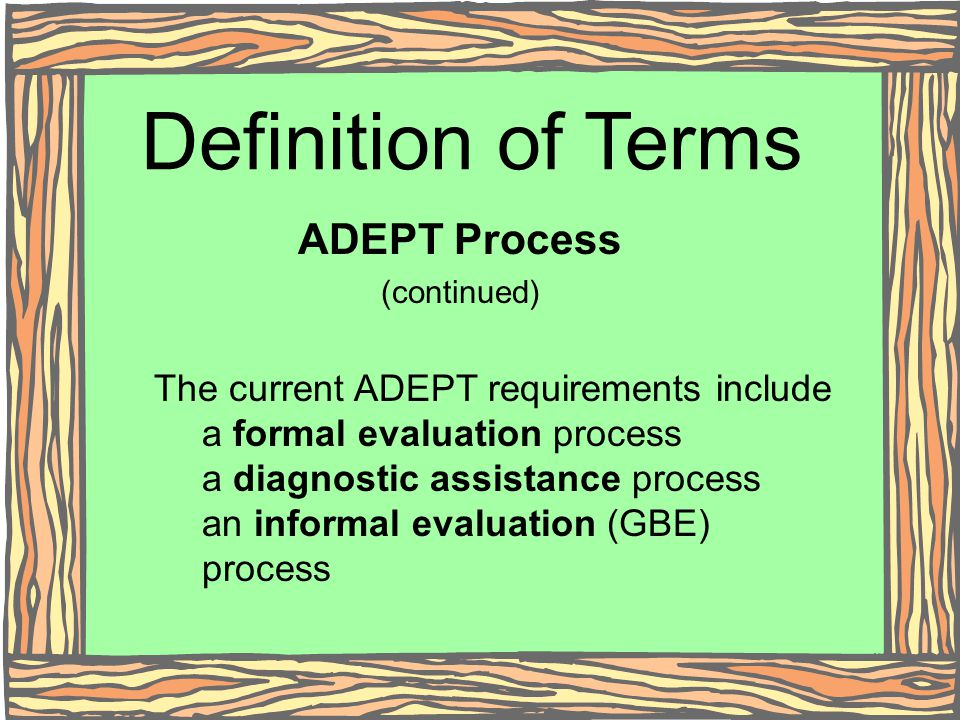 Definition of Terms ADEPT Process