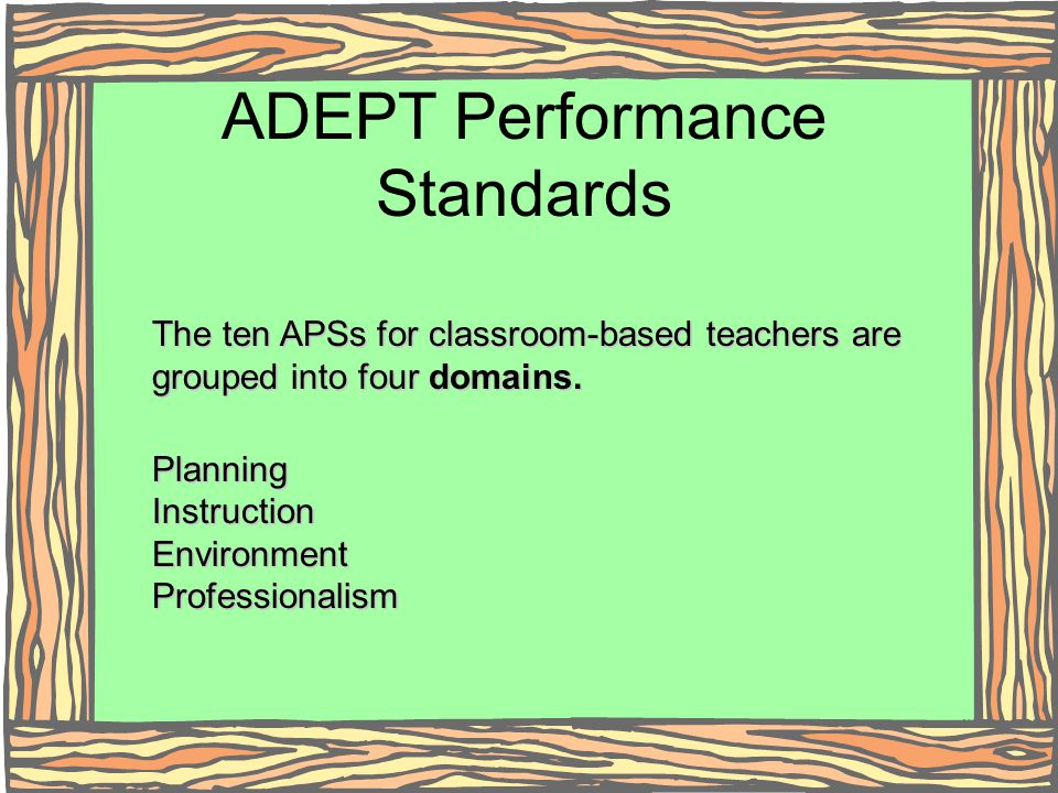 ADEPT Performance Standards