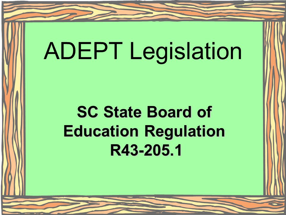 SC State Board of Education Regulation