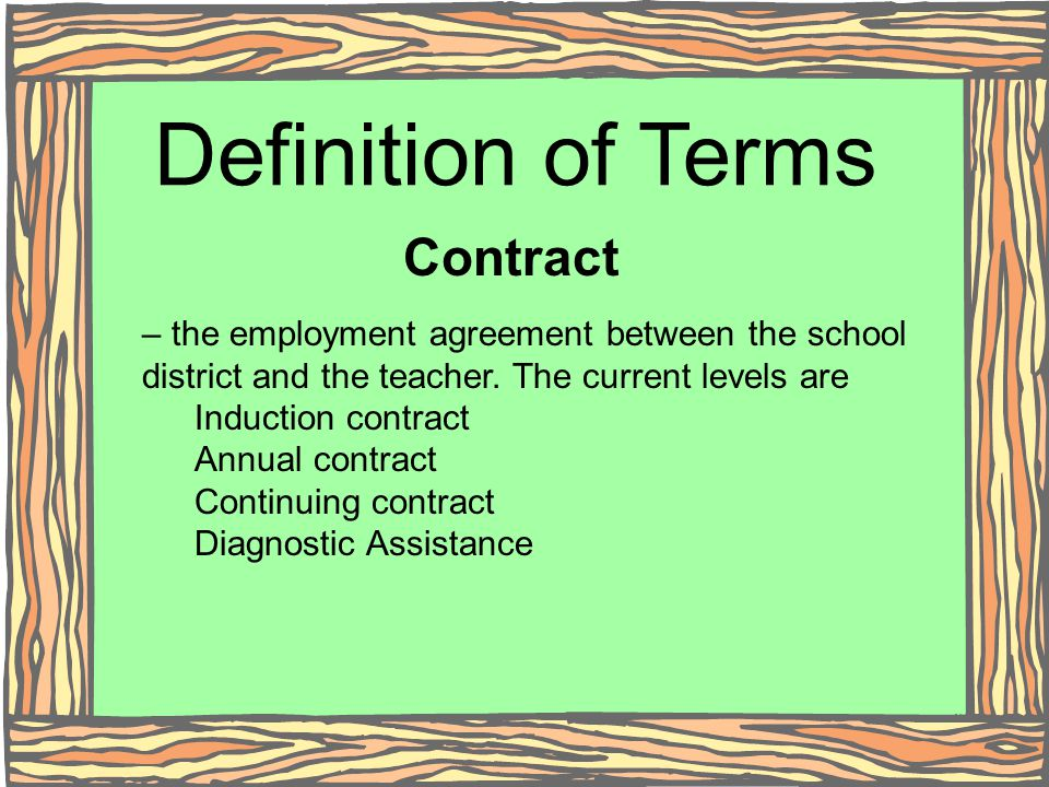 Definition of Terms Contract