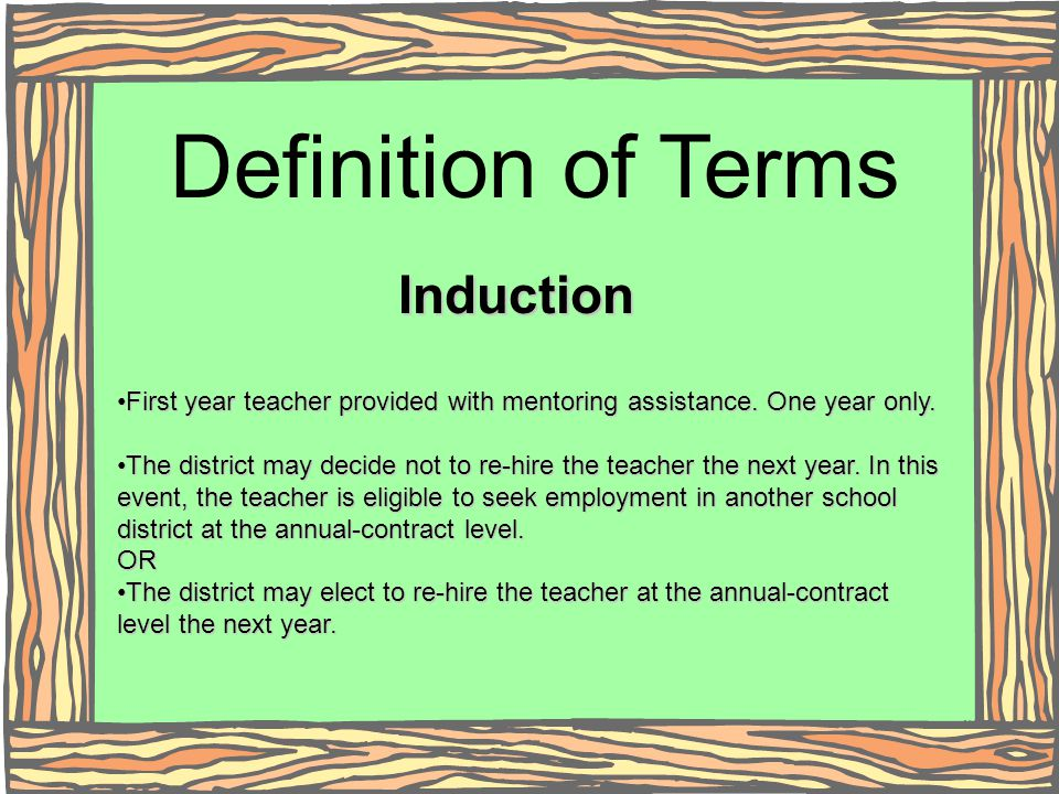 Definition of Terms Induction