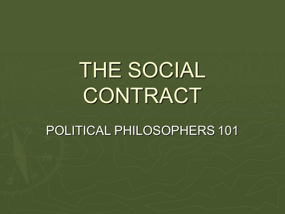 POLITICAL PHILOSOPHERS 101