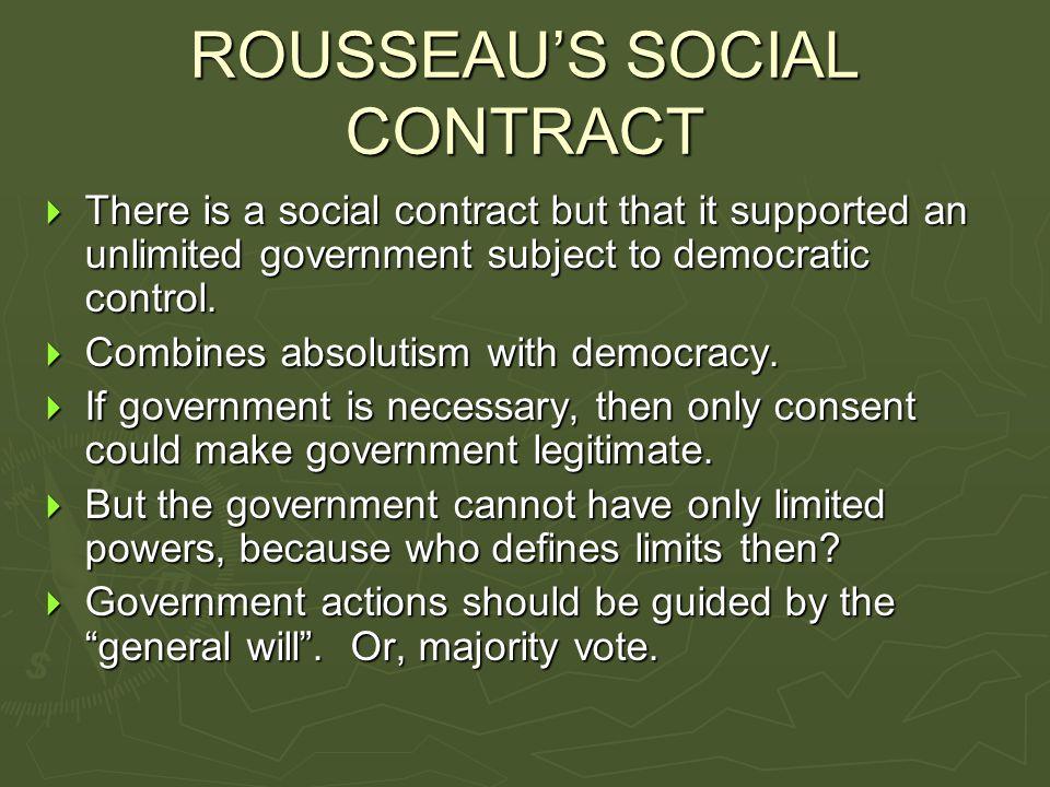 ROUSSEAU'S SOCIAL CONTRACT