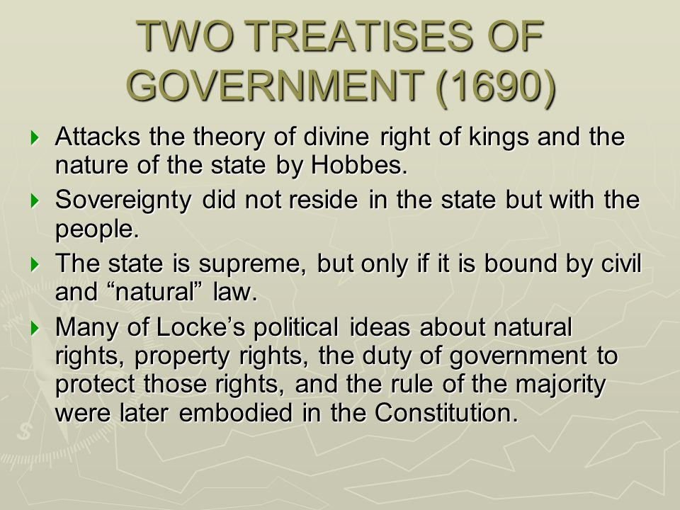 TWO TREATISES OF GOVERNMENT (1690)