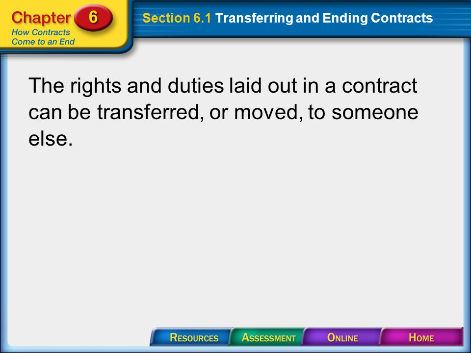 Section 6.1 Transferring and Ending Contracts