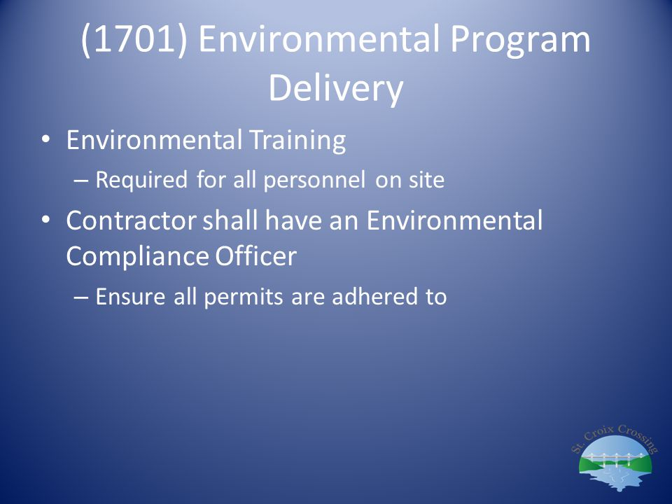 (1701) Environmental Program Delivery