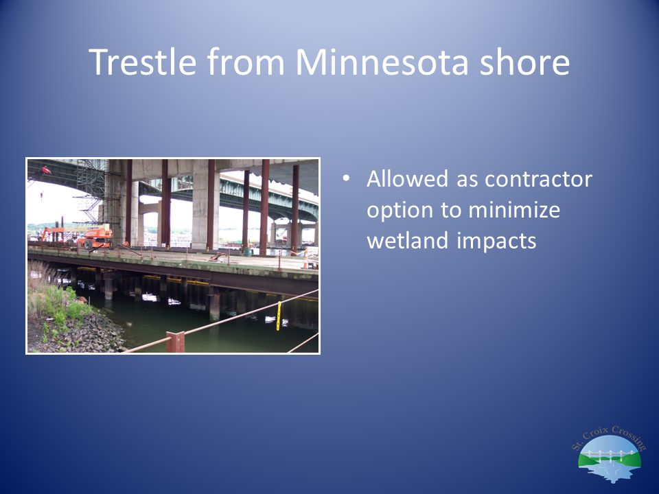 Trestle from Minnesota shore