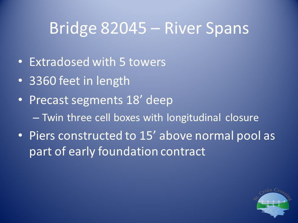 Bridge 82045 – River Spans Extradosed with 5 towers