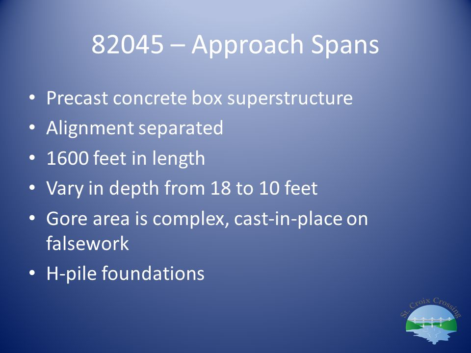 82045 – Approach Spans Precast concrete box superstructure