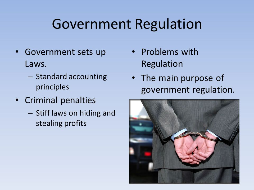 government regulations and standards that affect Healthcare regulations: who does what  not only by all levels of government  regulations and standards are necessary to ensure compliance and.