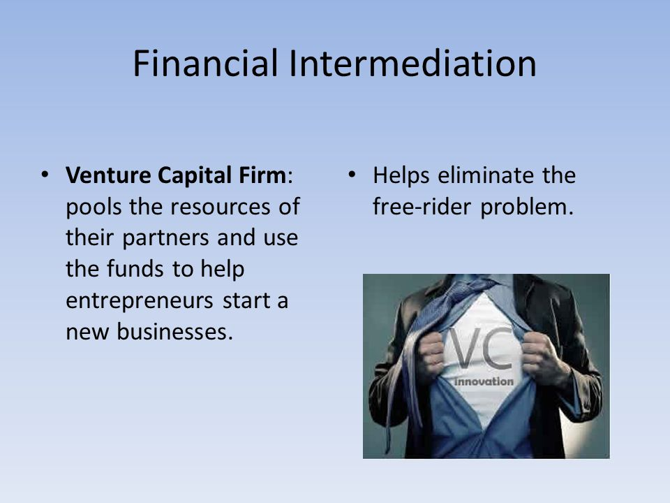 financial intermediation Start studying financial intermediaries and markets learn vocabulary, terms, and more with flashcards, games, and other study tools.