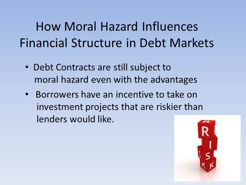 How Moral Hazard Influences Financial Structure in Debt Markets