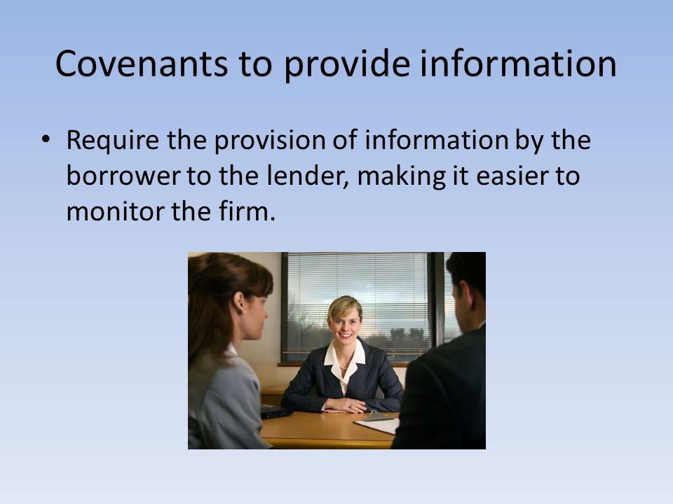 Covenants to provide information