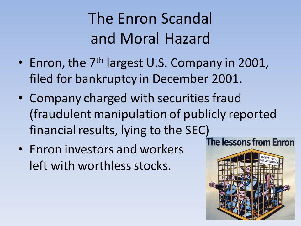 The Enron Scandal and Moral Hazard