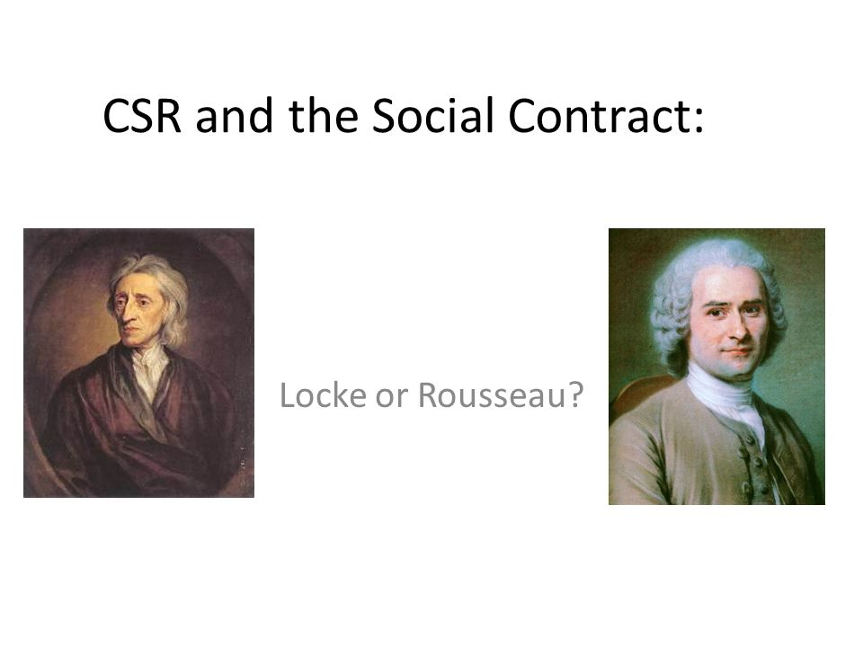 CSR and the Social Contract:
