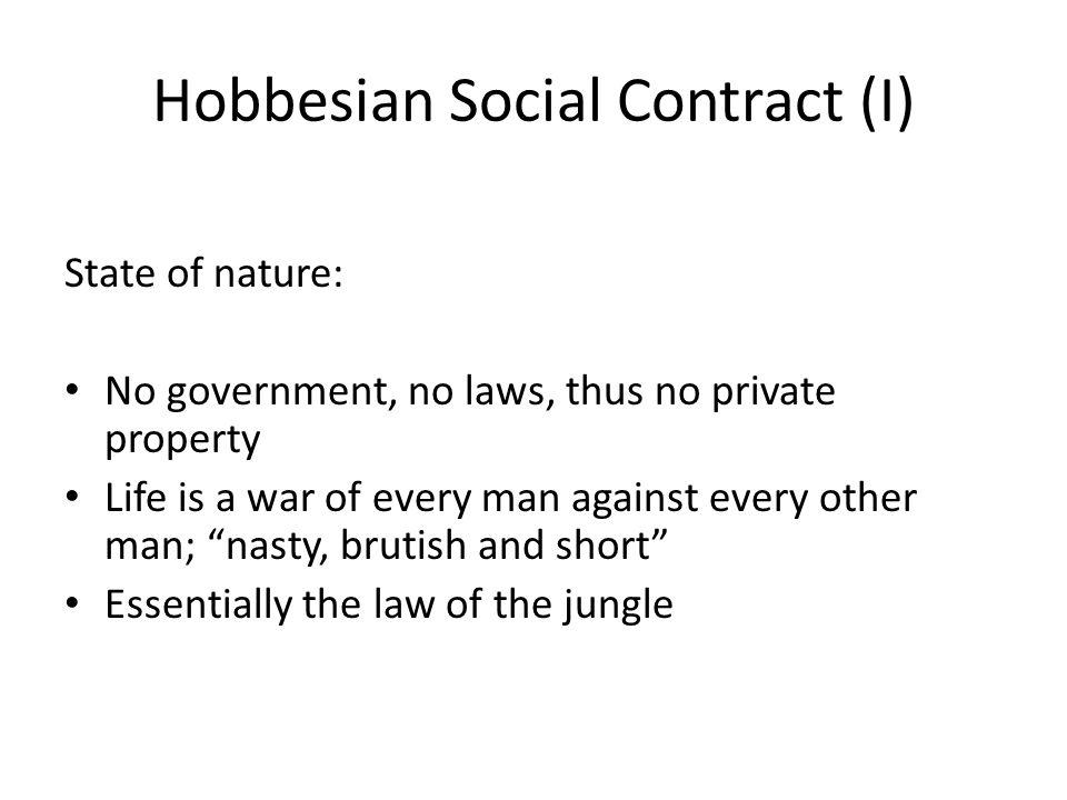Hobbesian Social Contract (I)