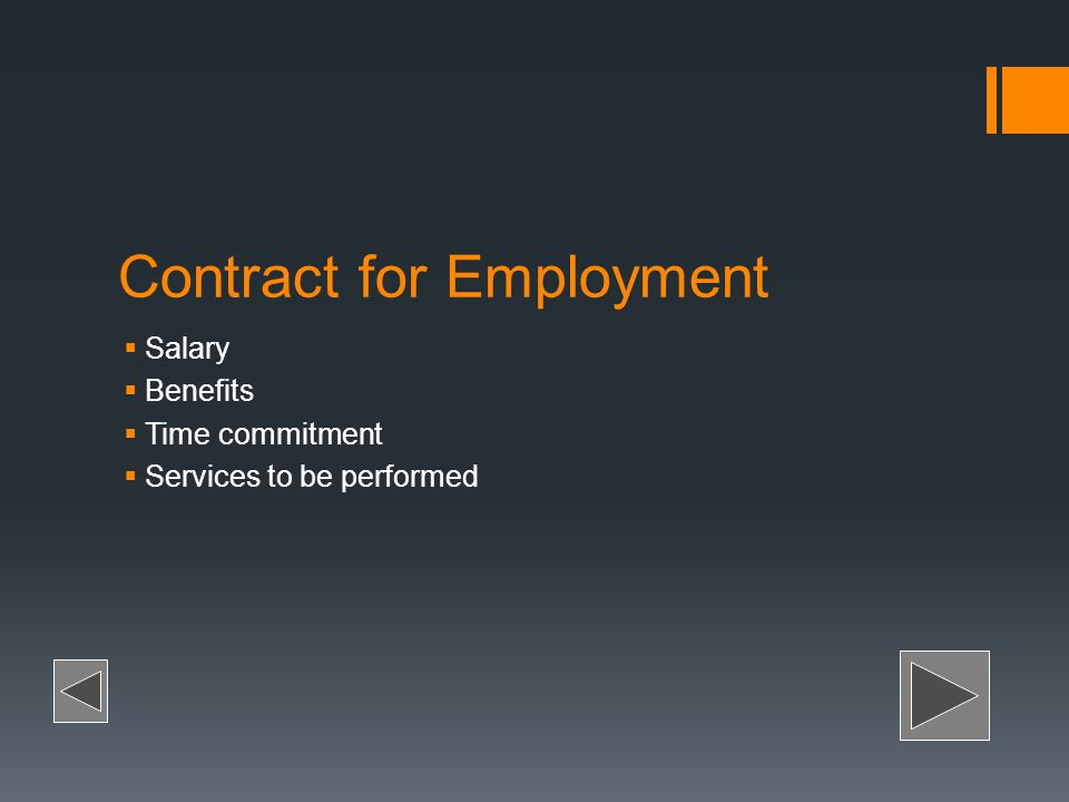Contract for Employment