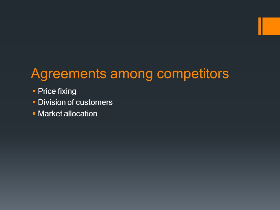 Agreements among competitors