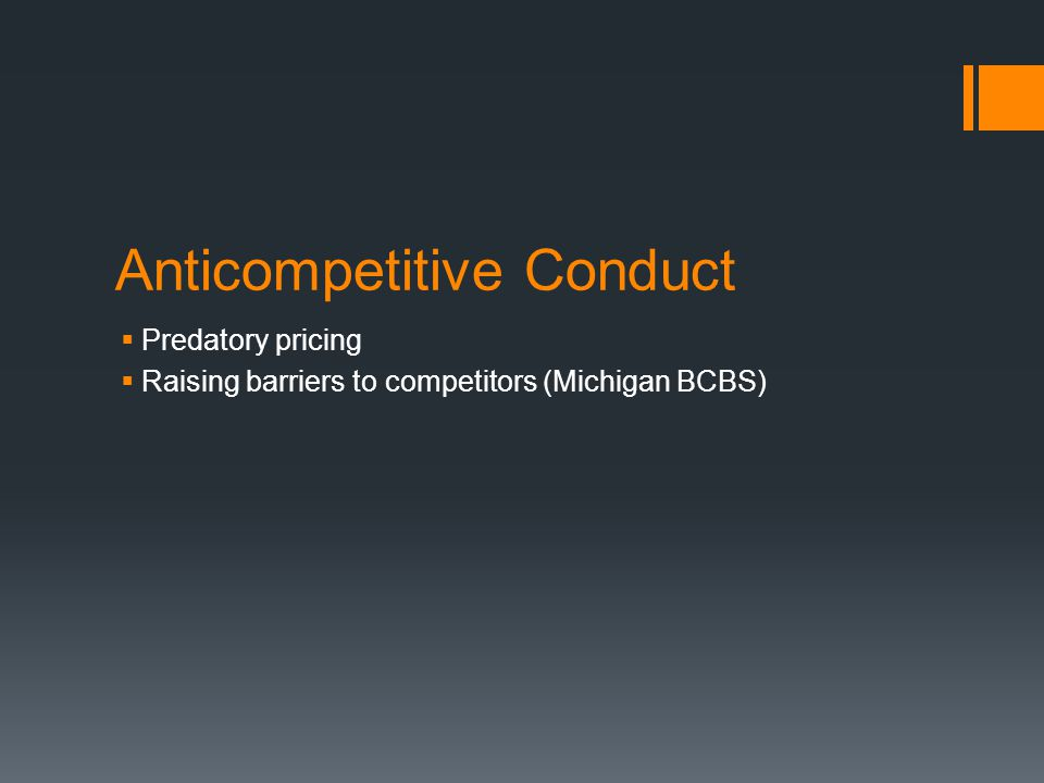 Anticompetitive Conduct