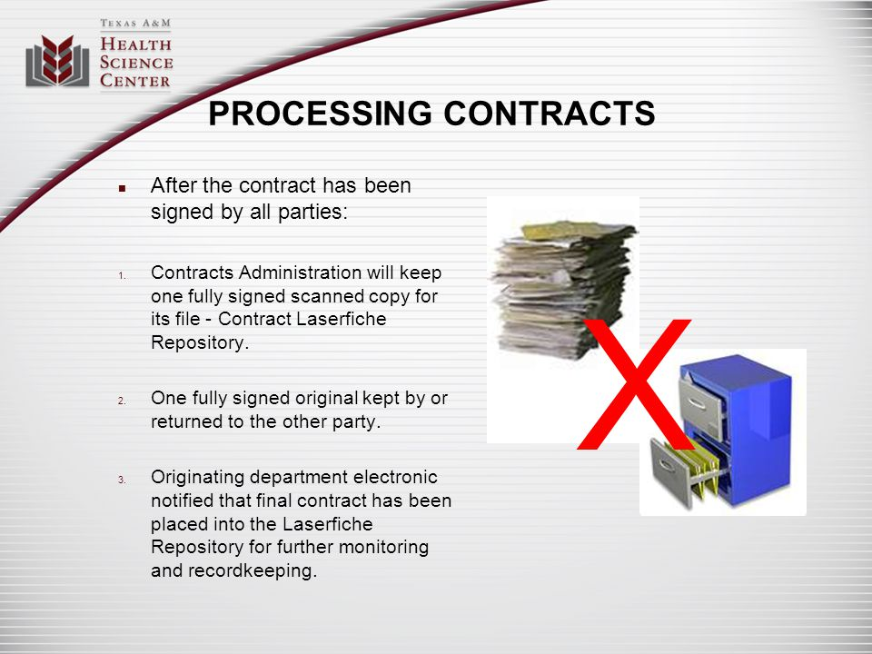 X PROCESSING CONTRACTS