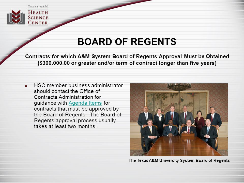 The Texas A&M University System Board of Regents