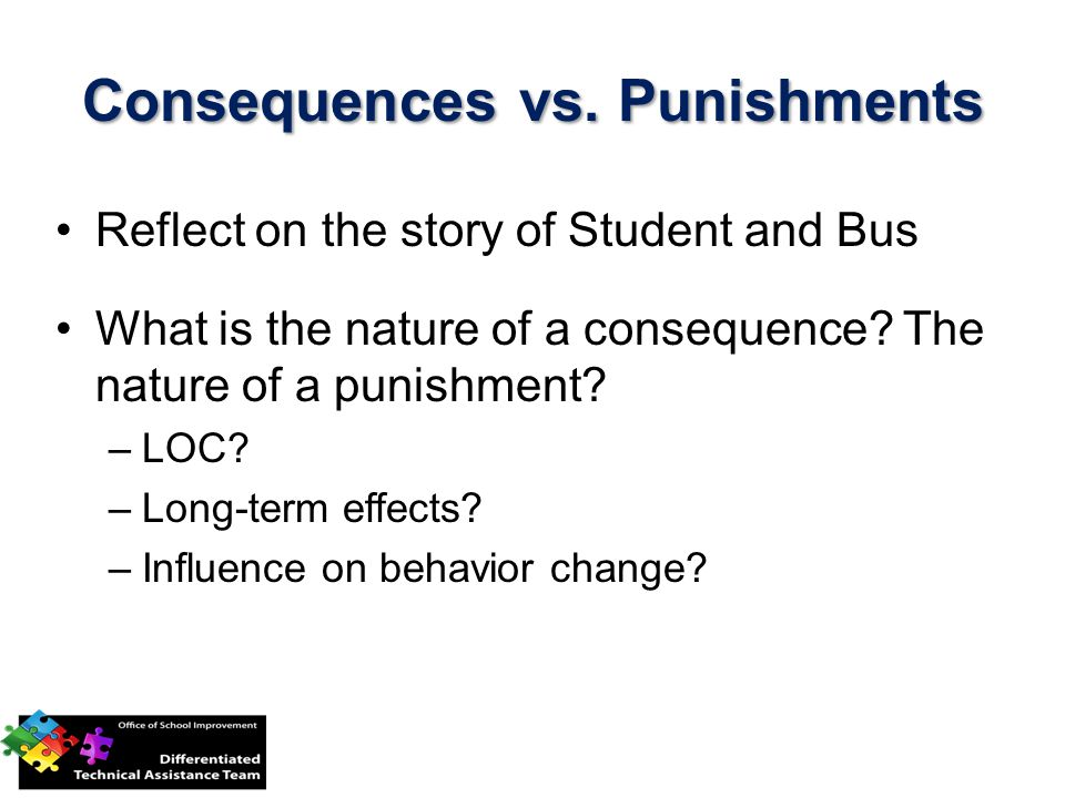 Consequences vs. Punishments