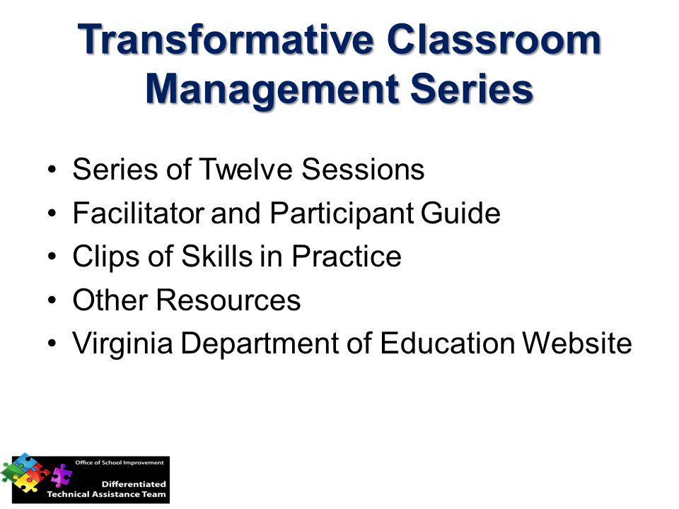 Transformative Classroom Management Series