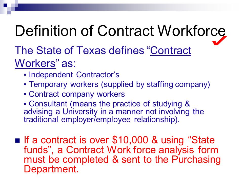 Definition of Contract Workforce