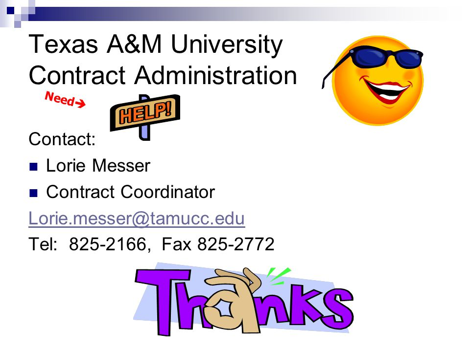 Texas A&M University Contract Administration