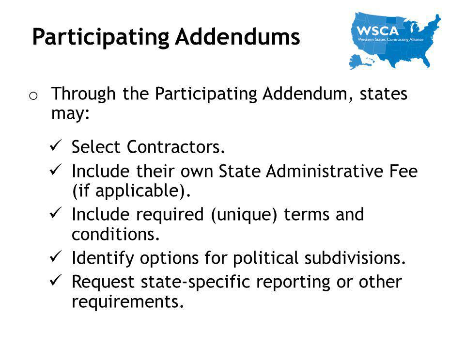 Participating Addendums