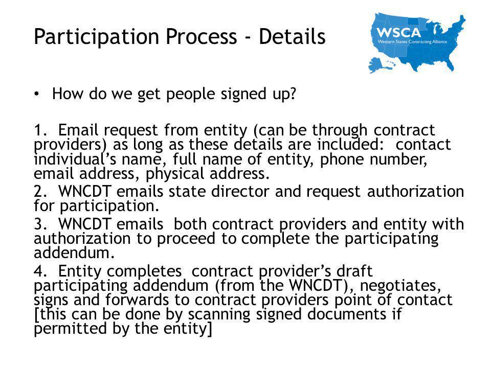 Participation Process - Details