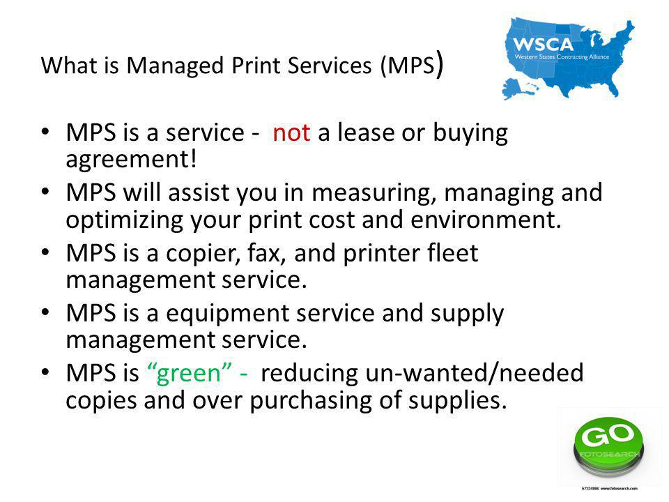 What is Managed Print Services (MPS)