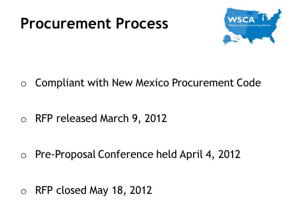 Procurement Process Compliant with New Mexico Procurement Code