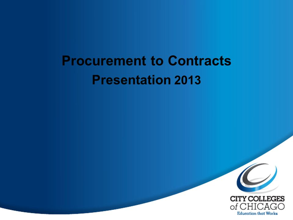 Procurement to Contracts