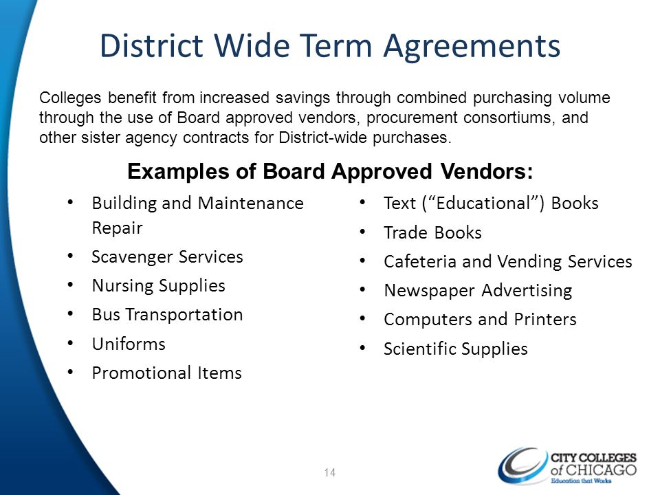 District Wide Term Agreements