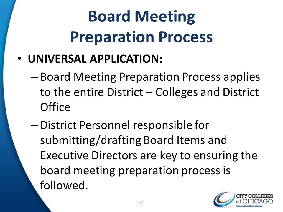 Board Meeting Preparation Process