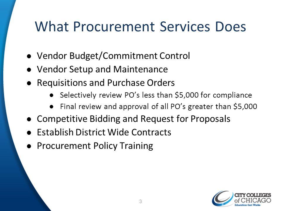 What Procurement Services Does
